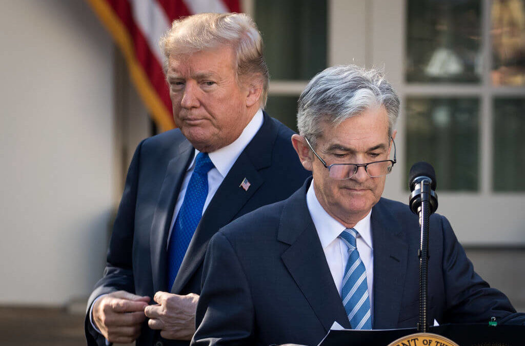 Trump Slams Fed Chair Powell for 'CRAZY INVERTED YIELD CURVE!'