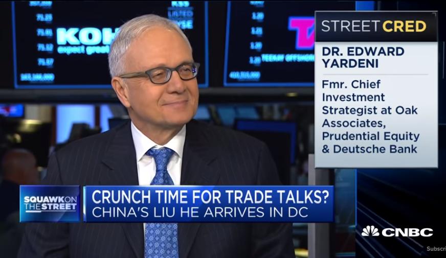 Long-Time Wall Street Bull Yardeni: 'Market Melt-Up' Threatening 'Nasty Correction'