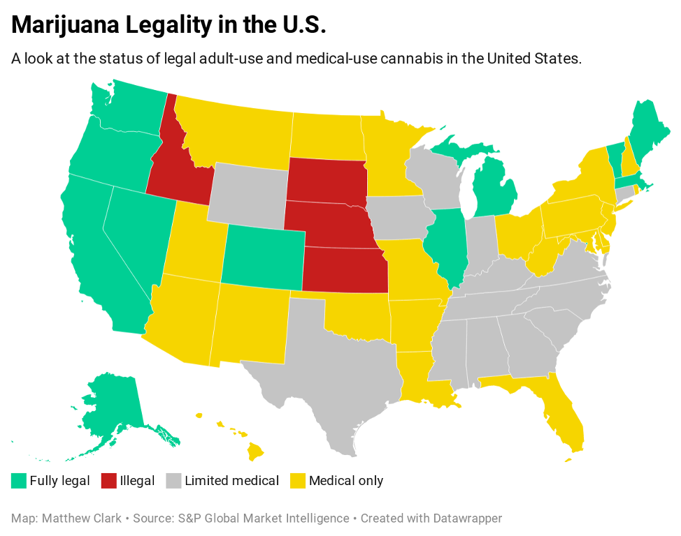 cannabis legalization by state