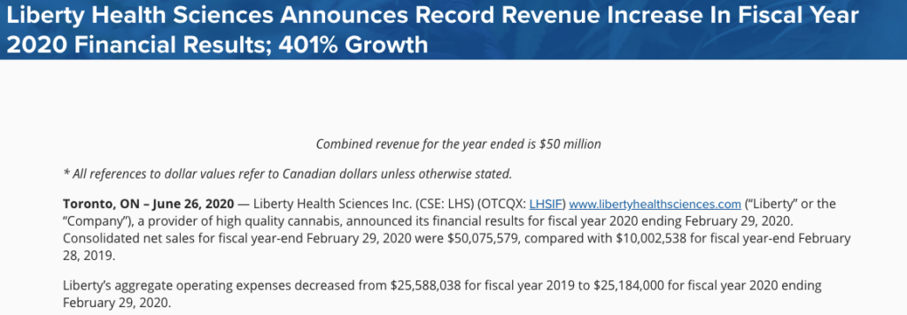 liberty health fiscal year 2020