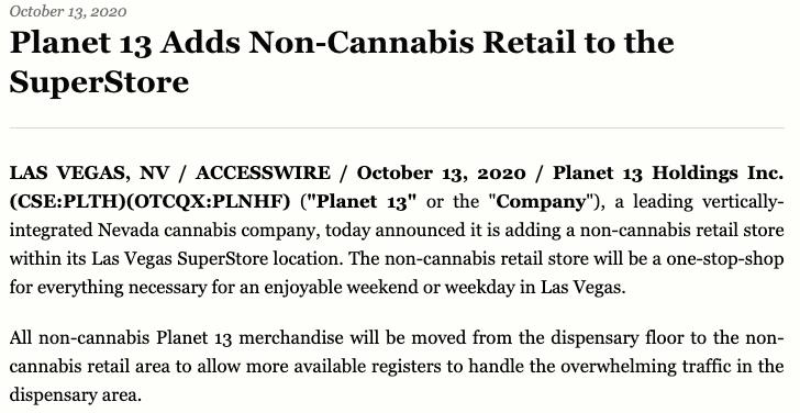 planet 13 non cannabis
